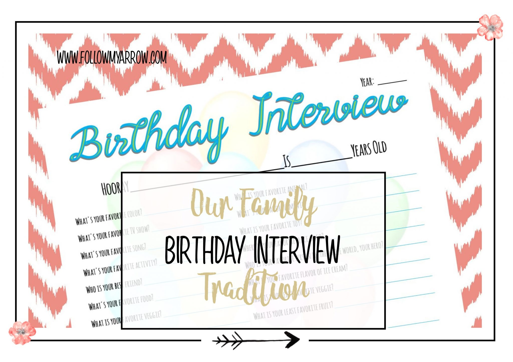 Birthday Interview Tradition to every year with your kids!