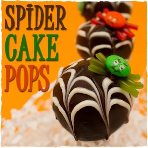 Spider Cake Pops with Webs | Sugar Kissed