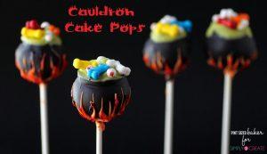Cauldron Cake Pops By by Karyn Granrud | Pint Sized Baker