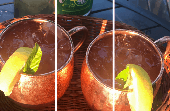 Lemon Basil Mule