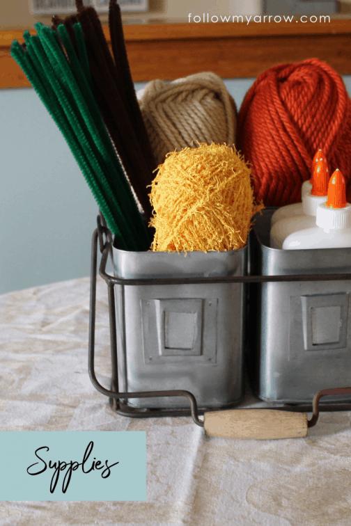 Easy Yarn Pumpkin Craft 3