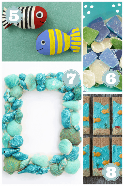 summer beach crafts and snacks - fish