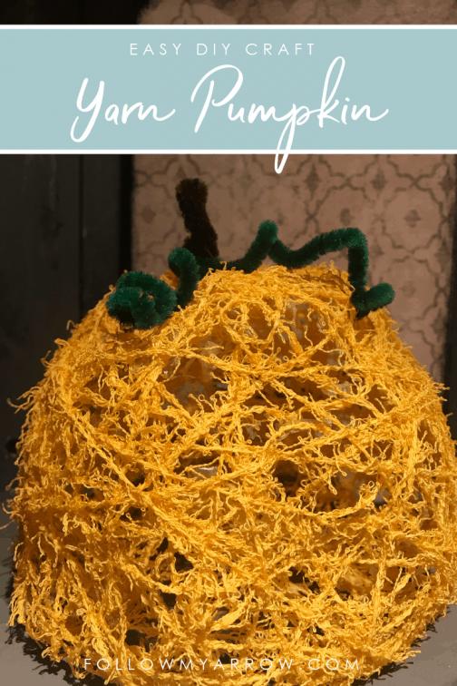 Easy Yarn Pumpkin Craft
