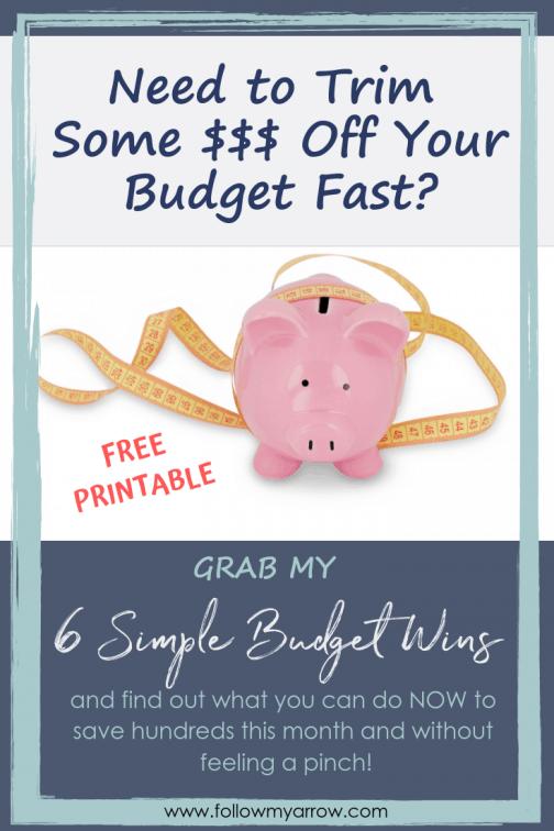 6 Simple Budget Wins