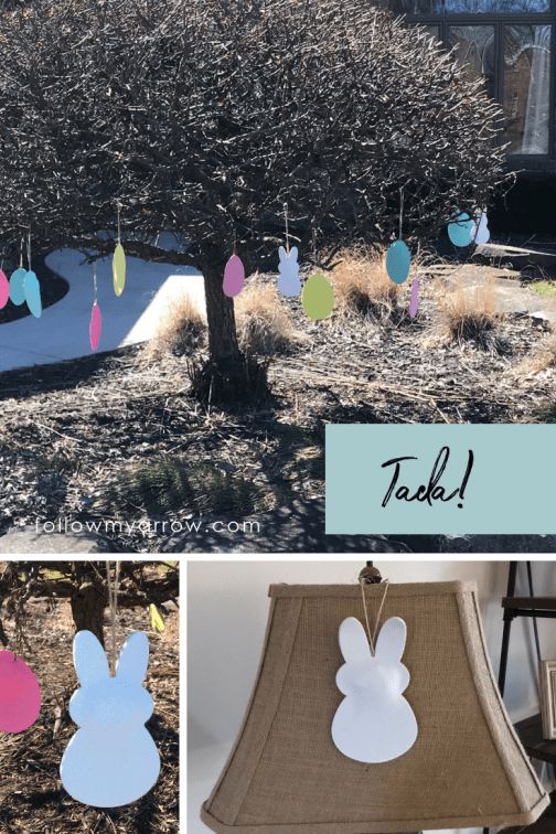 DIY foam easter decoration