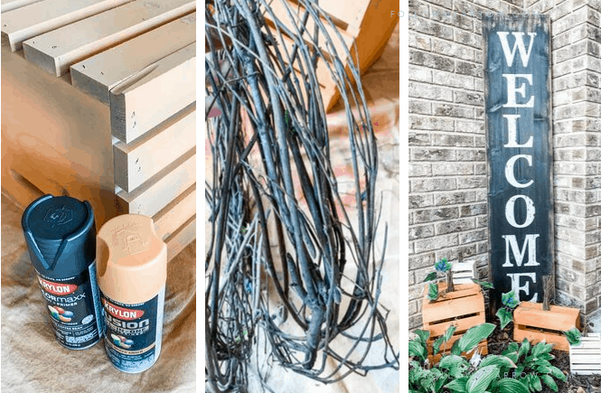 DIY Wood Crate Pumpkin Patch Outdoor Decor-featured
