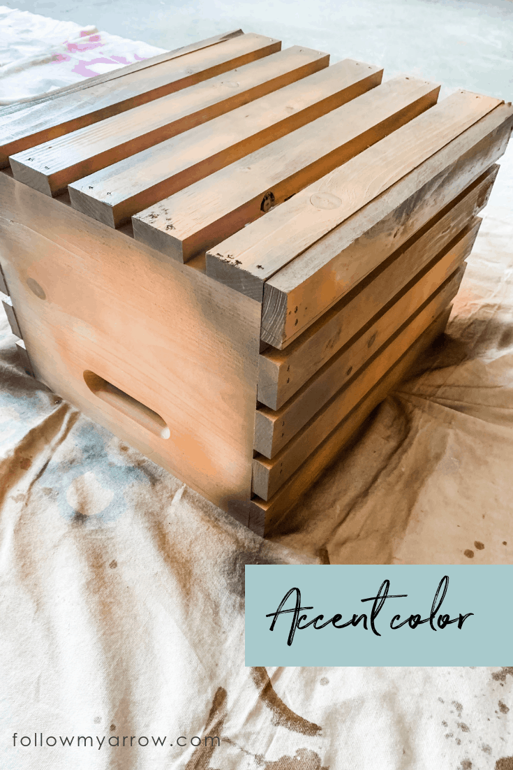 wood crate pumpkin paint 1